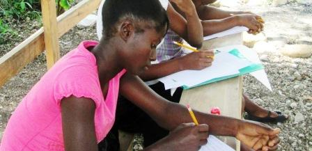 Haiti Girls learning
